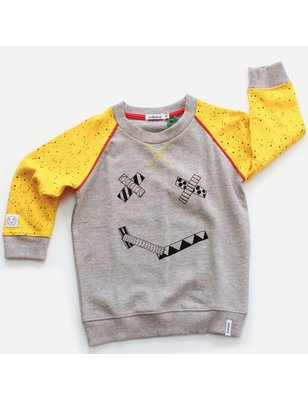 Indikidual Sweater Smiles, washi face, 100% organic cotton, GOTS