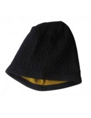 Macarons Hat Hendrik, night blue/ honey, merino wool and organic cotton, GOTS