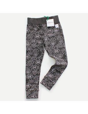 Indikidual Legging Andy, splat face print, 95% organic cotton, 5% elastane, GOTS
