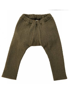 Macarons Pants Palu, taupe/honey, organic merino wool / cotton