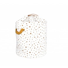 Nobodinoz Toybag Baobab small, White with Beige Stars