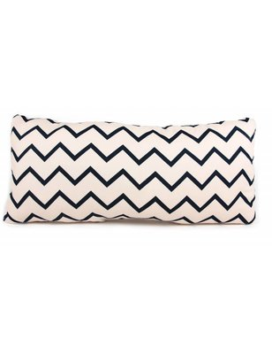 "Nobodinoz Averell ZigZag Cushion Black zig zag, 100% cotton, ""zigzag"" pattern, produced in Spain"