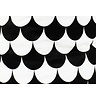 Nobodinoz Toybag Baobab small, Black Scales, printed cotton twill.