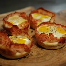 Bacon & Egg 'Cupcake'