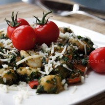 Gnocchi met Spinazie en Paprika