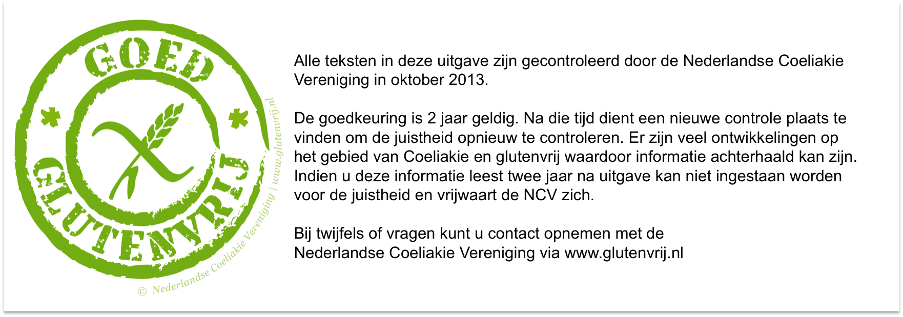 Communicatie Licentie/Keurmerk NCV