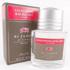 St James of London Aftershave Gel  Sandalwood & Bergamot 50ml