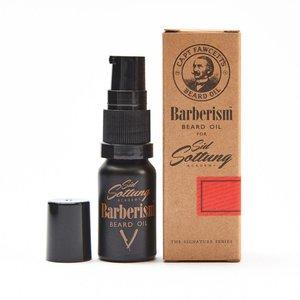Captain Fawcett Beard oil barberism - travel