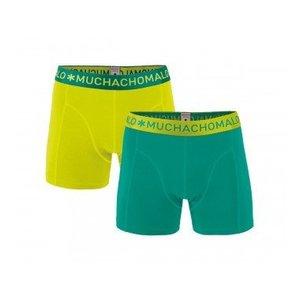Muchachomalo 2-PACK MEN SHORT SOLID Groen/ Geel