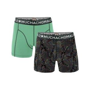 Muchachomalo 2-PACK MEN SHORT Run solid / print