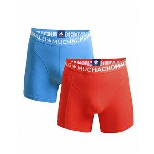 Muchachomalo 2-PACK MEN SHORT Rood / Blauw