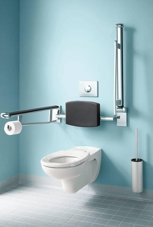 Opklapbare steun wc 700mm lengte keuco plan care verchroomd vitasel shop - Badkamer lengte plan ...