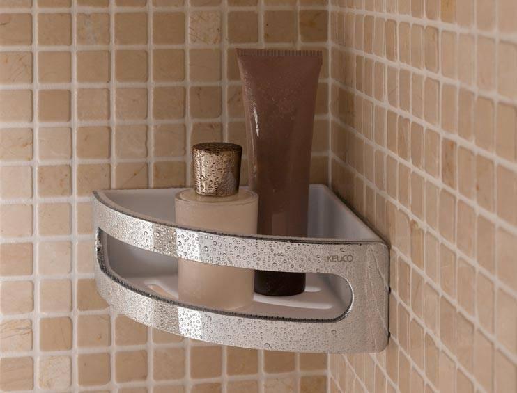 hoeksponskorf elegance keuco verchroomd vitasel shop. Black Bedroom Furniture Sets. Home Design Ideas