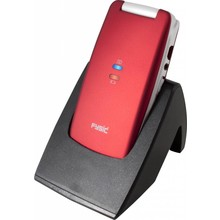 Fysic FM-9700 Rood Mobiel Comfort Klap GSM met SOS knop van Fysic