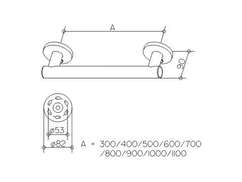 keuco handgreep 982mm serie plan care verchroomd vitasel shop. Black Bedroom Furniture Sets. Home Design Ideas
