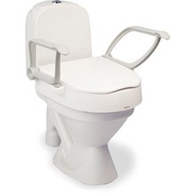 Etac R82 B.V. Hi-Loo Toilettensitz mit Armlehnen