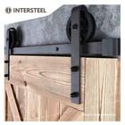 Schuifdeursysteem Wheel Mat Zwart van Intersteel