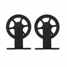 Intersteel 2 hangrollen spaakwiel  tbv schuifdeursysteem Wheel  Top mat zwart