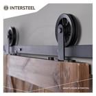 Schiebetürsystem Wheel Top Mat Black von Intersteel