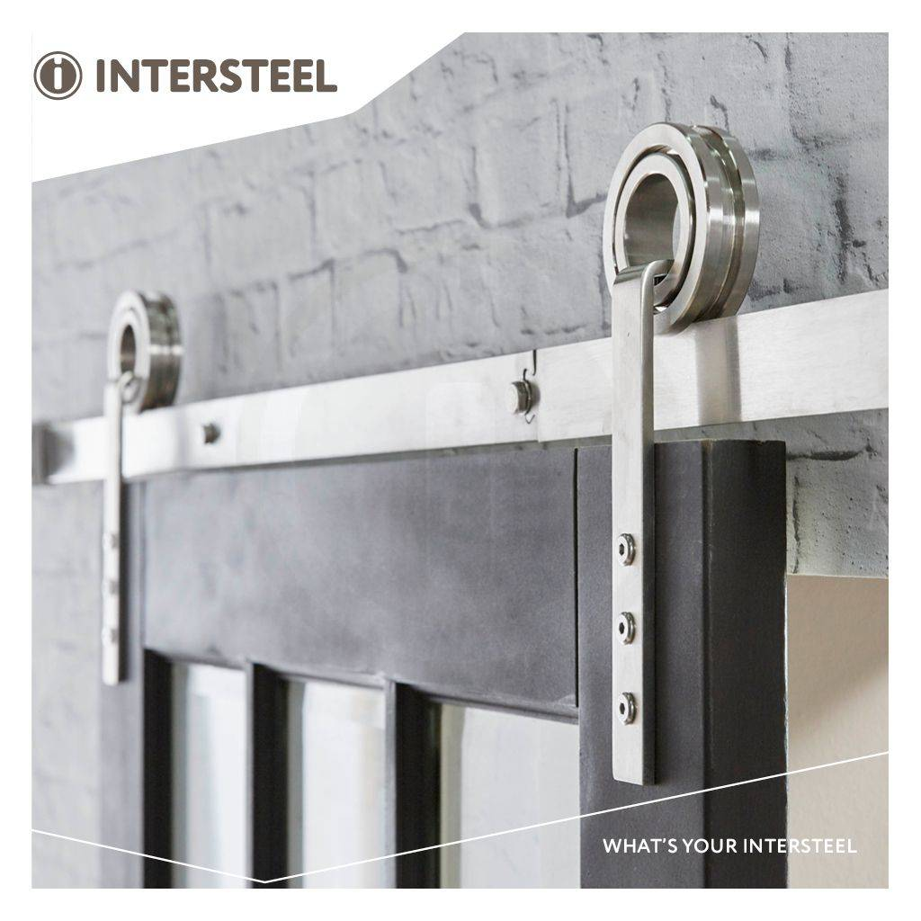 ... Intersteel Sliding door system Modern stainless steel from Intersteel ...  sc 1 st  Vitasel-shop & Sliding door system Modern stainless steel brushed from Intersteel ...