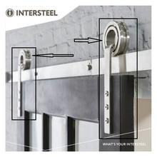 Intersteel 2 hangrollen open wiel  tbv schuifdeursysteem Modern rvs