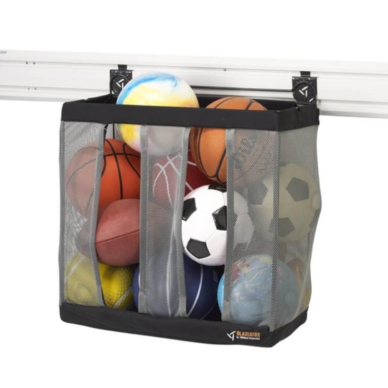Ball Caddy waar minstens 9 grote ballen in passen