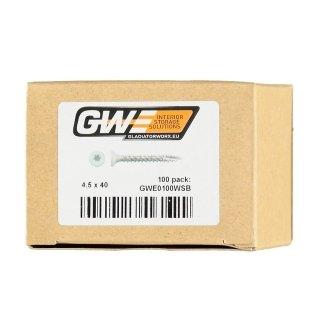 GWE Witte Schroeven TORX (16/32/100 stuks)