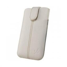 iPhone 4 Dolce Vita Lederen Pouch wit