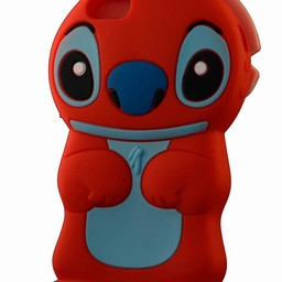 Iphone 5(S) en 5(C) hoesje Stitch Rood