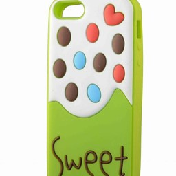 Iphone 5 hoesje Sweet Ice cream Groen-wit
