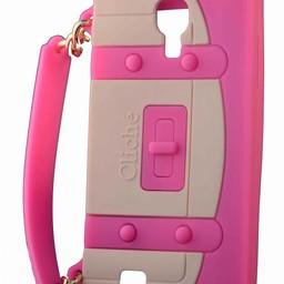 Samsung S4 hoesje Handtasje Donker Rose