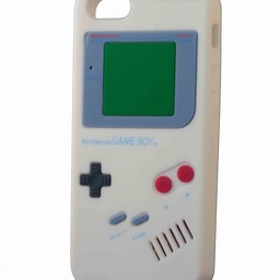 Iphone 5(S) en 5(C) retro Nintendo game boy Wit