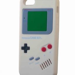 Iphone 5(S) en 5(C) retro Nintendo game boy Wit