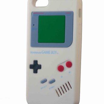 Iphone 5(S) en 5(C) hoesje retro Nintendo game boy Wit