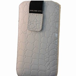 Insteekhoes Croco Look Wit (voor meerdere toestellen)
