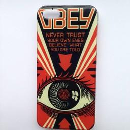Iphone 5 hoesje Hard case Obey 1