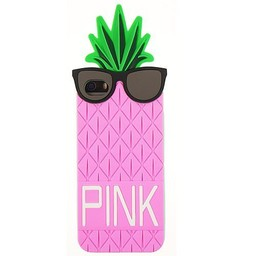 Iphone 5 (S) en 5(C) hoesje Ananas Rose