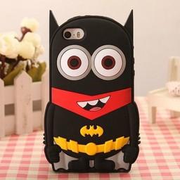 Iphone 5 (S) en 5C  hoesje Minion Superheld Batman