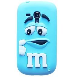 Samsung S3 Mini siliconen hoesje M&M Licht Blauw