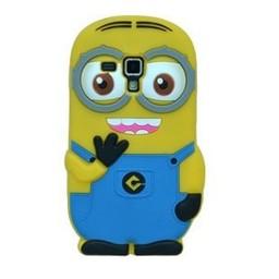 Samsung Galaxy S3 mini siliconen bescherm hoesje Minion Two Eyes Licht Blauw