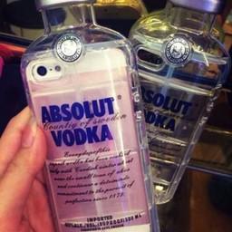 Iphone 5 (S) Hard case hoesje Absolute Vodka