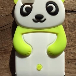 Iphone 5 (C) hoesje Siliconen Panda Beer Groen