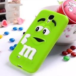 Samsung Galaxy S4 Siliconen hoesje M&M Groen