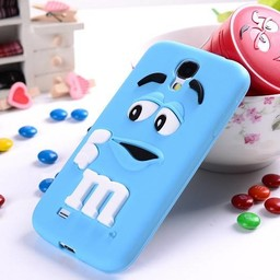 Samsung Galaxy S4 Siliconen hoesje M&M Blauw