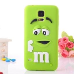 Samsung Galaxy S5 Siliconen hoesje M&M Groen