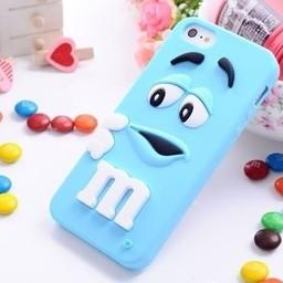 Iphone 6 Siliconen hoesje M&M Blauw