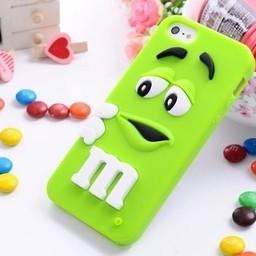 Iphone 6 Siliconen hoesje M&M Groen