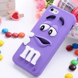 Iphone 6 Siliconen hoesje M&M Paars