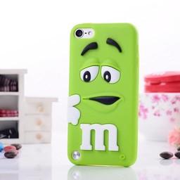 Ipod Touch 5 (G) en 6 (G) siliconen bescherm hoesje M&M Groen