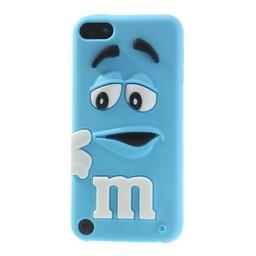 Ipod Touch 5 (G) en 6(G) siliconen bescherm hoesje M&M Blauw